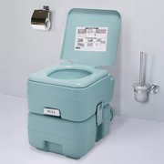 Portable Toliet 5 Gallon 20L Outdoor Camping Toilet Potty, Greenish Gray