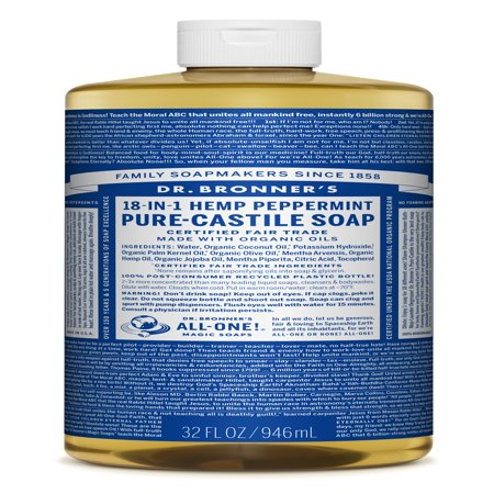 - Dr. Bronner's Peppermint Pure-Castile Liquid Soap - 32 oz