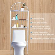 Yosoo Metal Storage Rack Over Toilet Bathroom Space Saving 3-Tier Shelf Unit Organizer, Toilet Organizer,Toilet Shelf