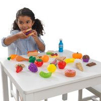 KidKraft 30-Piece Plastic Play Food Set, Fruits, Veggies, Sweets and More, Use with Play Kitchens