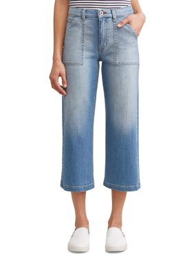 Aly Wide Leg Cropped Jean Women's (Light Wash)