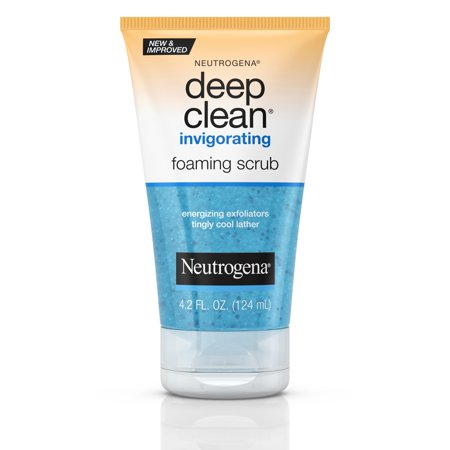 Neutrogena Deep Clean Invigorating Foaming Face Scrub, 4.2 fl. oz