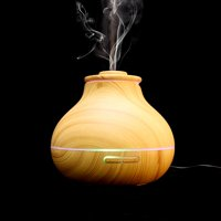 Wooden LED Ultrasonic Aroma Humidifier Essential Oil Diffuser Air Purifier US 110V (Light Wood), Humidifier, Ultrasonic Diffuser