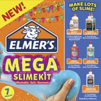 Elmers Brand Mega Slime Kit: Make Glow In The Dark, Color, and Clear Slimes