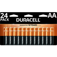 (2 Packs) Duracell 1.5V Coppertop Alkaline AA Batteries, 24 Pack