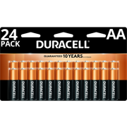 Duracell 1.5V Coppertop Alkaline AA Batteries 24 Pack