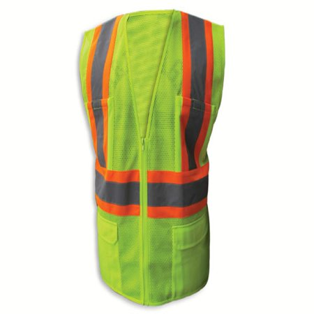 - Enguard LIME Poly Mesh Reflective Safety Vest, Class 2 -2XL