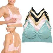 3d731e619b8ef 3 Womens Wire Free Nursing Bra Maternity Breastfeeding Pregnant Underwear M  L Xl