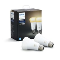Philips Hue White Ambiance A19 Smart Light Bulb, 60W LED, 2-Pack