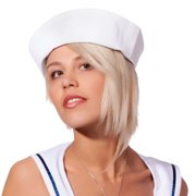White Sailor Hat for Adults