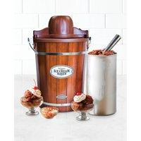 Nostalgia ICMP600WD 6-Quart Wood Bucket Ice Cream Maker