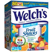 Welch's Fruit Snacks, Mixed, 0.9 Ounce, 80 Count