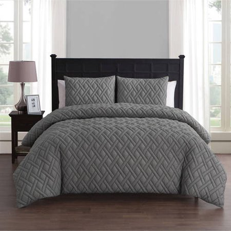 - VCNY Home Lattice Embossed 2/3 Piece Bedding Duvet Cover Set with Shams, Multiple Colors and Sizes Available