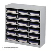 Scranton & Co Grey Steel Mail Organizer - 18 Compartments