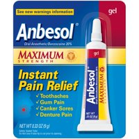 Anbesol Oral Anesthetic Maximum Strength Instant Pain Relief Gel, 0.33 Oz