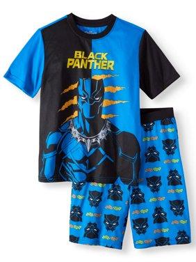 Boys' Black Panther 2 Piece Pajama Sleep Set (Little Boy & Big Boy)