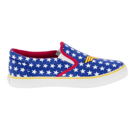 Wonder Woman Womens' Canvas Slip-On - Wonder Woman Vans
