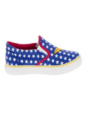 Wonder Woman Womens' Canvas Slip-On Sneaker