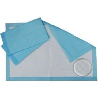 Healthline (Chux) Disposable Underpads 23 x 36, Waterproof Highly Absorbent Bed Pads for Adults, Children and Pets, Large Size, Blue, Count (50/Pack)