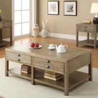 Coaster Furniture Light Oak Coffee Table