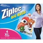 Ziploc Pinch and Seal Big Storage Bags, XL, 10 Gallon, 4 Count