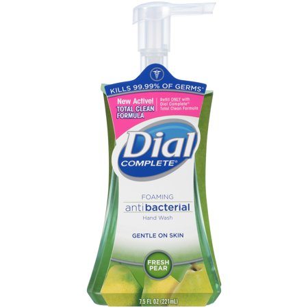 Dial Complete Antibacterial Foaming Hand Wash, Fresh Pear, 7.5 Ounce Dial Foaming Antimicrobial Soap