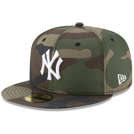 New York Yankees New Era Woodland Camo Basic 59FIFTY Fitted Hat -
