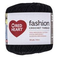 Red Heart Classic Crochet Thread, Size 10, BLACK