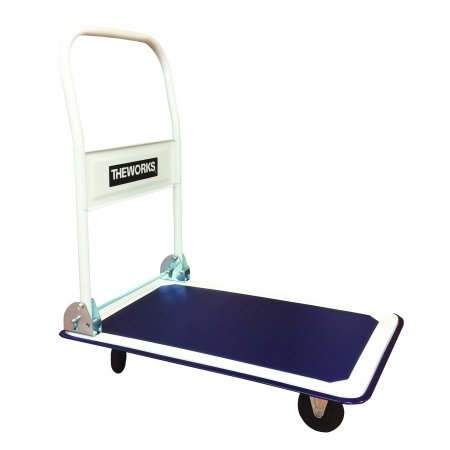 - THEWORKS 330lbs Platform Cart Folding Dolly Foldable Warehouse Moving Push Hand Truck
