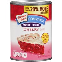(2 Pack) Comstock More Fruit Cherry Pie Filling Or Topping, 21 oz