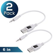 cc69af58e7d Insten 2-Pack USB Charger Charging Cable Cord For Apple iPod shuffle 2nd  Generation 2G
