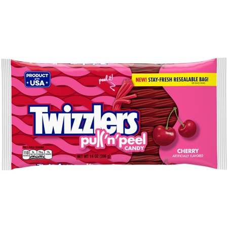 Twizzlers Pull 'n' Peel Cherry Licorice Chewy Candy, 14 Oz. - Licorice Twizzlers