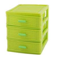 Household Dresser Plastic 3 Layers Cosmetics Lipstick Hairpin Storage Box Case