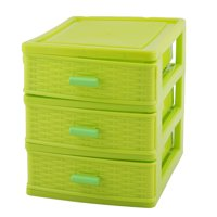 Household Dresser Plastic 3 Layers Cosmetics Lipstick Hairpin Storage Box Case
