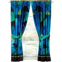 "Universal's Jurassic World ""Mesozoic Era"" Window Boys Bedroom Curtains"