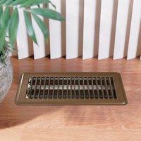 Deflecto Floor Register, 4' x 10', Brown