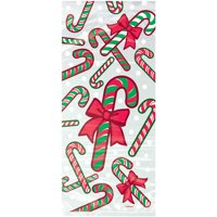 Candy Cane Christmas Cellophane Bags, 11 x 5 in, 20ct