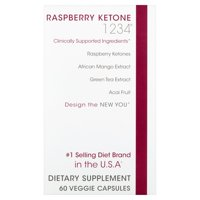 Creative Bioscience 1234 Raspberry Ketones Fat Blocker Weight Loss Pills, Veggie Ctules, 60 Ct