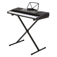 Homegear Musical Instruments 61 Key Electronic Piano Keyboard with Stand / USB Accompaniment