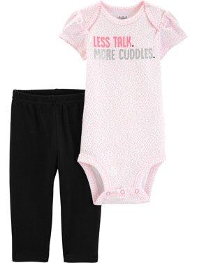 Short Sleeve Bodysuit and Pant Set, 2 pc set (Baby Girls)