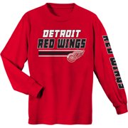 Youth Red Detroit Red Wings Long Sleeve T-Shirt 31b9983784