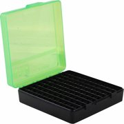 MTM P-100 Flip Top, 9MM, 100-Round Ammo Case, Green/Black