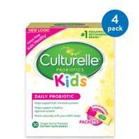 (4 Pack) Culturelle Probiotics Kids Daily Probiotic Dietary Supplement Packets - 30 CT