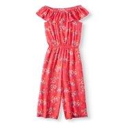 1852db7250249 Floral Printed Gauze Gaucho Jumpsuit (Little Girls, Big Girls & Big Girls  Plus)