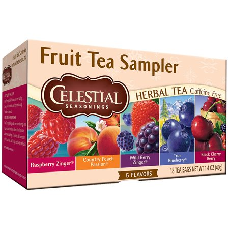 Celestial Seasonings Strawberry Tea ((3 Pack) Celestial Seasonings Fruit Tea Sampler, 18 Count )