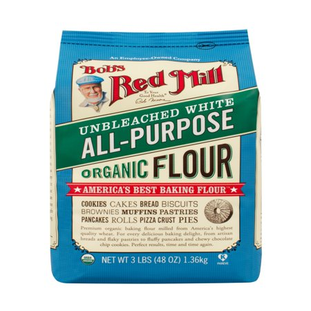 - (2 Pack) Bob's Red Mill All Purpose Flour, Unbleached White, 48 Oz