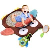 Micelec Cute Cartoon Owl Baby Infant Tummy Time Crawling Play Mat Game Pad Pillow Toy