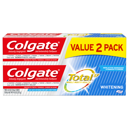 Colgate Total Whitening Toothpaste, 4.8 oz. 2-pack (Colgate Total Advanced Whitening)