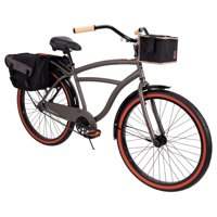 """Huffy 26"""" Surfside Mens Cruiser Bike with Perfect Fit Frame, Charcoal"""