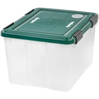 IRIS USA, Inc. Remington 46 Qt. WEATHERTIGHT Plastic Storage Box, Green